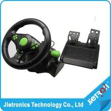 2017 Проводной USB виброотдача racing wheel для ps3 рулевое колесо работы для Xbox 360/PS2/PS3/ pc (3 в 1) с бесплатной доставкой;