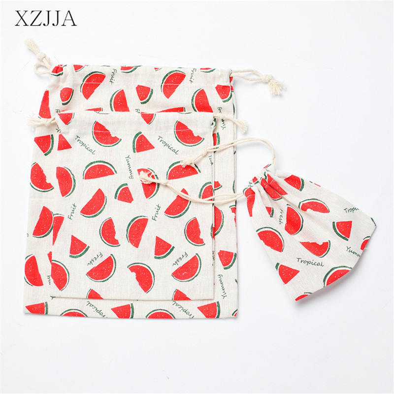 XZJJA Portable Watermelon Gift Bags Travel Clothing Shoe Underwear Beam Storage Bag Travel Drawstring Pouch Sundries Organizer