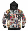 2 Colors Real USA size 3D Sublimation Print Best of Tupac Hoody/Hoodie  OEM  Custom made Clothing