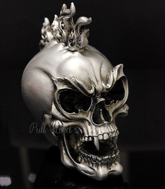 Individualité tête de crâne fantôme décoratif Halloween festival résine décoration Bar terreur décoratif