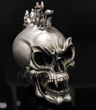 Individuality skull head ghost decorative Halloween festival Resin Decoration Bar terror Decorative