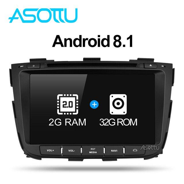 Asottu Z13SLT8060 Android 7.1 car GPS para KIA sorento 2013 2014 DVD del coche DVD GPS reproductor 2 Din coche ESTÉREO GPS naviigation