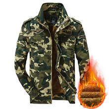 Winter Military Warm Jacket Men Camouflage Thermal Parkas Coat Cotton Outwear Thick Army Pilot Bomber Jacket Men Parkas Hombre