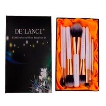 DE'LANCI 8Pcs Makeup Brush Set Eyebrow Foundation Powder Face Eyeliner Lip  Brushes Makeup Beauty Tools With Box Christmas Gift