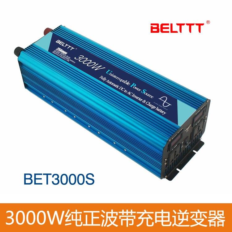 DC12V para AC220V Inversor de Onda Senoidal Pura UPS 3000 Watts de Potência de Pico de 6000 w, Inversor de Energia Inteligente Na China