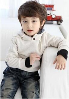 Outono 2015 crianças meninas com capuz capuz outerwears bebê Meninos roupa das crianças Hoodies camisolas de lã bonito Fresco Coreano