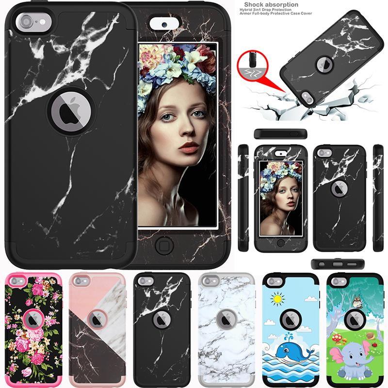 For Apple iPod Touch 6 6th// 5 5th Gen Design Hybrid Shock Absorbent Cover Case