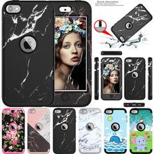 iPod Touch 7 Case iPod Touch 6 Case Heavy Duty Hybrid Sturdy Armor Shockproof Cover Case for Apple iPod Touch7th/6th/5th Gen
