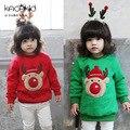 2016 Новый Стиль Малыш Топы Мода Хлопок Sweatershirt Длинным Рукавом футболки Зима Толстовка Детская Одежда