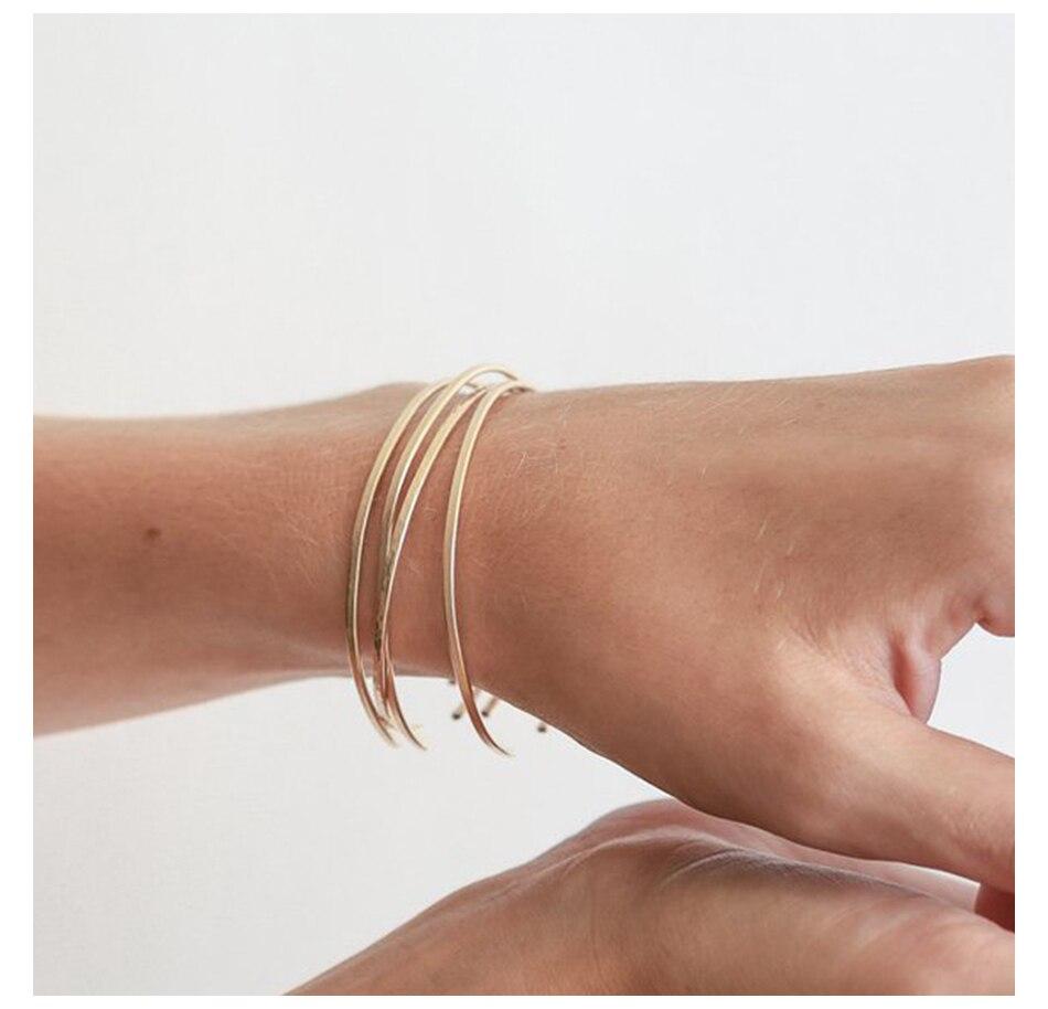 3 - EManco, Multicouches En Acier Inoxydable, Bracelets Pour Femmes,