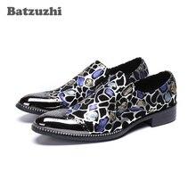 Batzuzhi Brand Men Dress Shoes Handmade Formal Leather Business Shoes Fashion Party Wedding Shoes Men Slip-on  zapatos de hombre