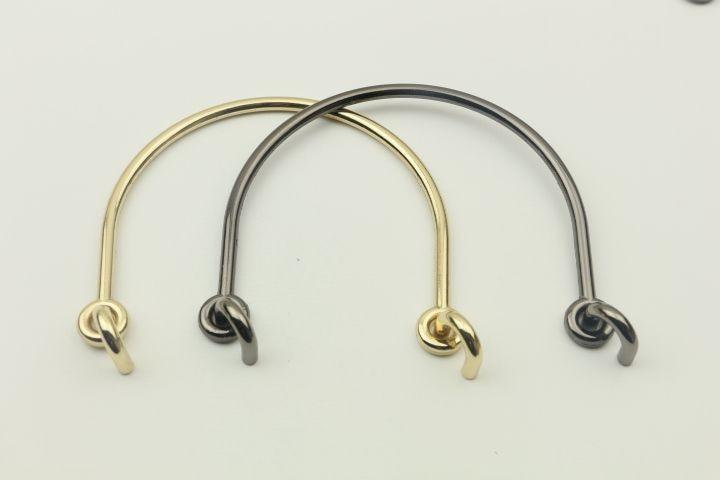 (6 pieces/lot) 2018 Gunmetal Light Gold U Shape Metal Purse Handle Frame DIY Accessories Borse Fai da Te Obag Metal Bag Handle