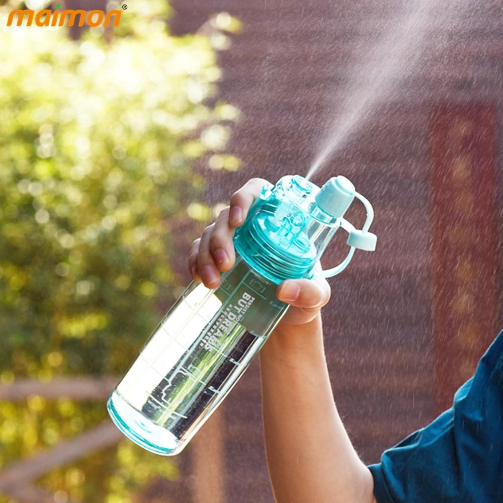 Fresco Spray Botella de Agua De Plástico Irrompible a prueba de Fugas Portátil d