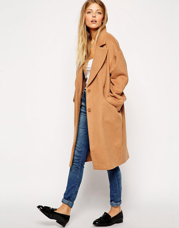 Camel Wool Trench Coat Womens | Down Coat