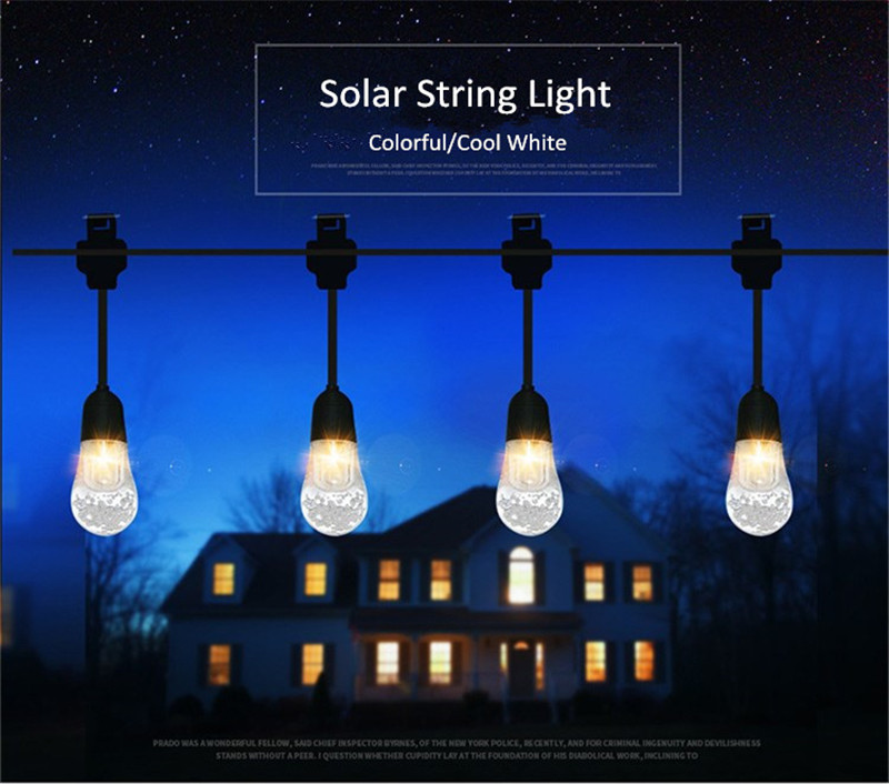 Outdoor Solar Powered Copper Wire LED String Lights Waterproof Fairy Light for Christmas Garden Holiday Decoration 50m waterproof solar powered led string light wireless outdoor decoration for christmas tree party street roof