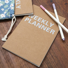 New Weekly Planner Notebook School Tools Stationery Planner 32 Inner P