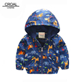 90-120cm Animal Baby Girls Jacket Active Hooded Outerwear Coats Boys Kids Children Clothing Giraffe Printing Jacket Windbreaker