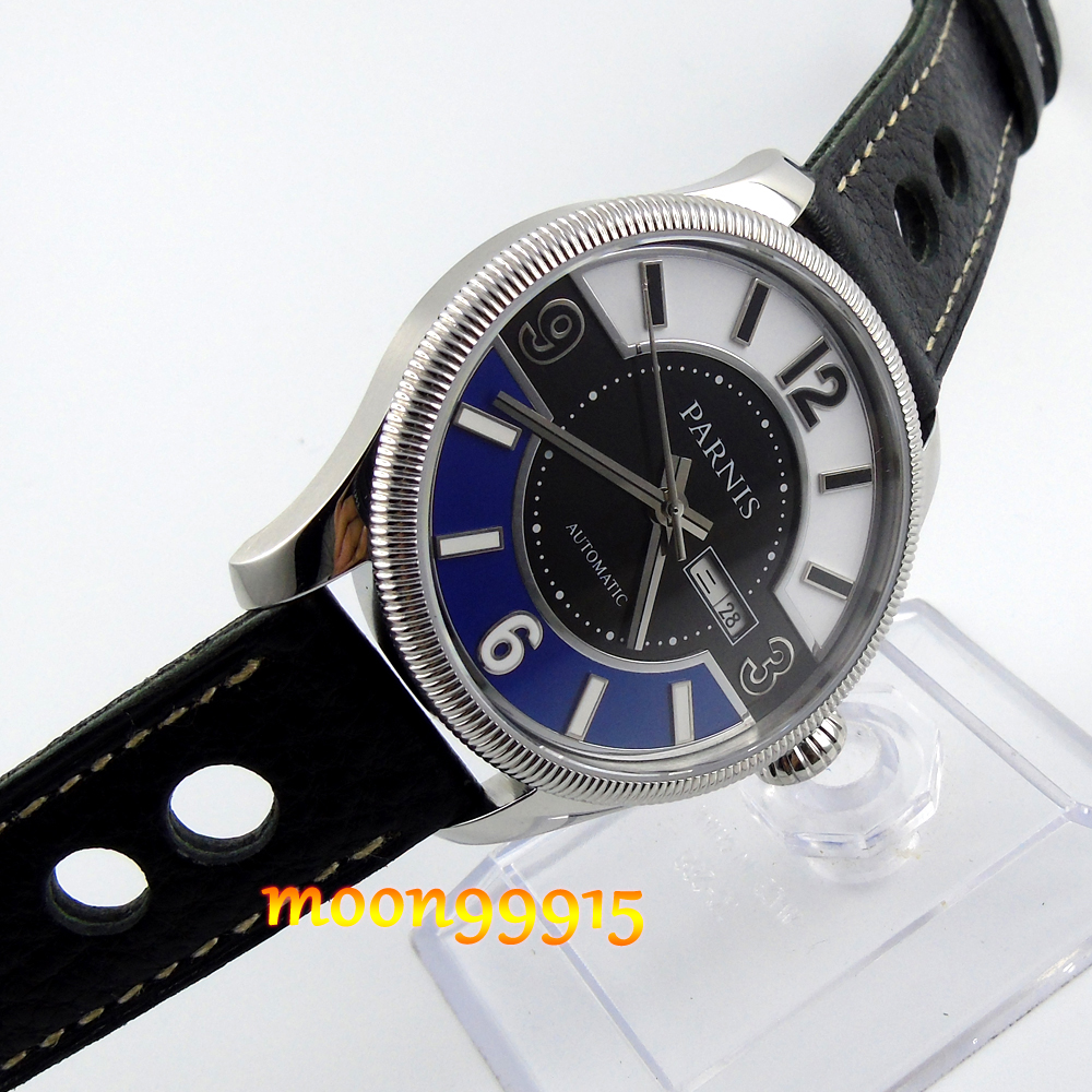 42mm Parnis Sapphire Glass complex Dial Miyota Automatic Movement Men's Watch 42mm parnis withe dial sapphire glass miyota 9100 automatic mens watch 666b