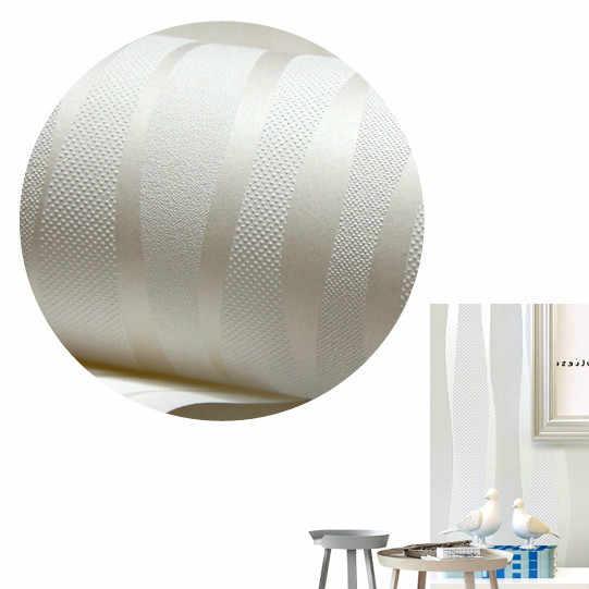 Белая Современная полосатая настенная бумага для стен спальни простая текстурированная перламутровая Нетканая простая однотонная настенная бумага рулон декор комнаты