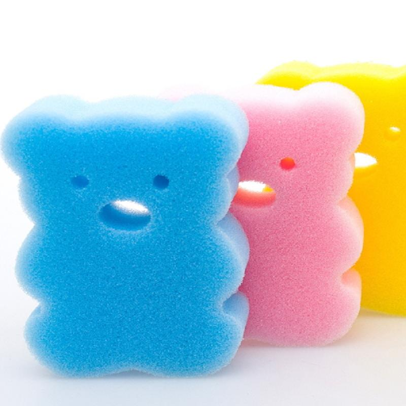 2Pcs Baby Bath Sponge Children Products Oval Baby Wash Bear Kids ...