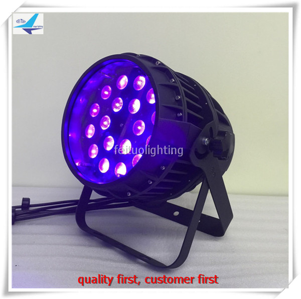 Bright light stage waterproof par led 18x18w 6in1 led dmx par 64 led zoom par
