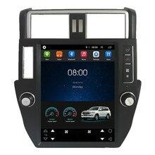 12,1 «Тесла вертикальный экран Android автомобильный Радио Аудио Sat Nav Головное устройство для Toyota Prado 150 2010 2011 2012 2013 2014 2015 2016