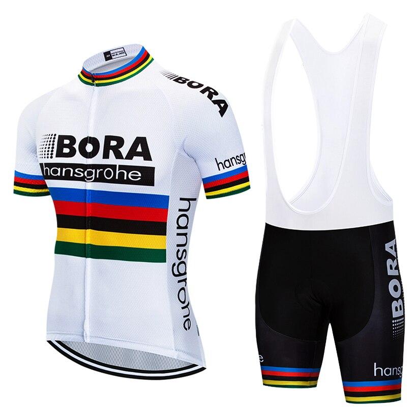 2018 Bike Team BORA hangsgrohe Radfahren Sets Maillot Ropa Ciclismo Fahrrad Jersey Sommer Fahrrad Radfahren Kleidung Outdoor Jersey Männer