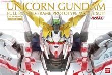 Bandai PG 1/60 RX  0 Unicorn Gundam mobil takım elbise monte Model kitleri aksiyon figürleri plastik Model oyuncaklar