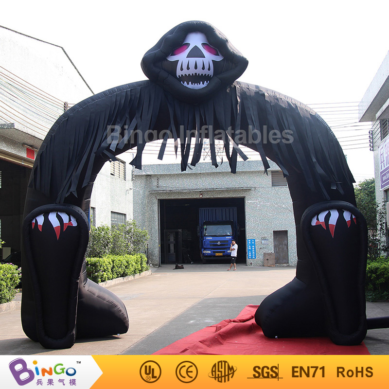 2017 Newest Disign Inflatable Ghost Arch 5M * 5M Inflatable Amusement Archway for Halloween Decoration with Free Fan Blower toy 5m 16ft summer inflatable killer whale replica inflatable fish inflatable amusement ocean toy with free blower outdoor toy