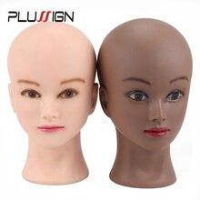 """20,"""" вешалка для париков с головой Styrofoam Bald Mannequin голова для создания париков парик шляпа макет для нанесения макияжа головы для макияжа"""