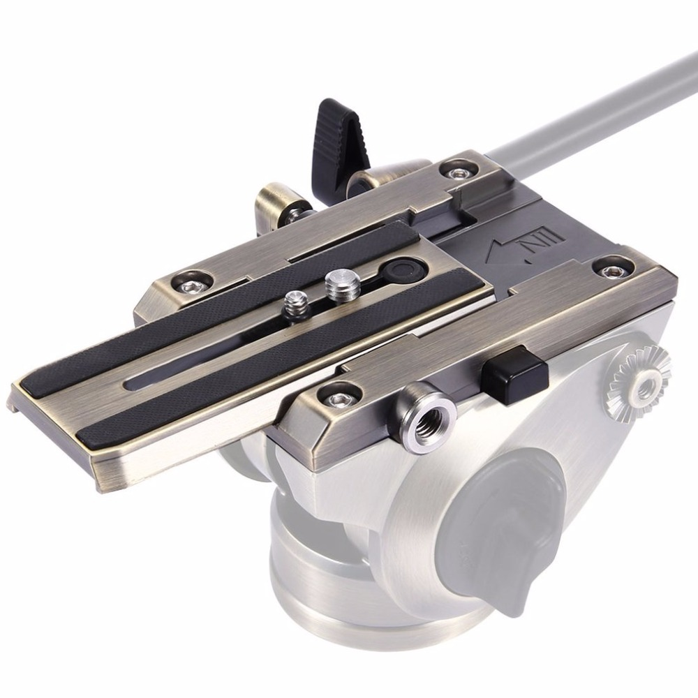 PULUZ Durable Camera Quick Release Plate Clamp 1/4 Screw Tripod Monopod Quick Release Adapter 3/8 Screw