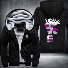 84374f944d7d3 2018 Winter Thick Being A Nurse Printing Hoodies Fleece Jackets Men s Coat  USA Size XS