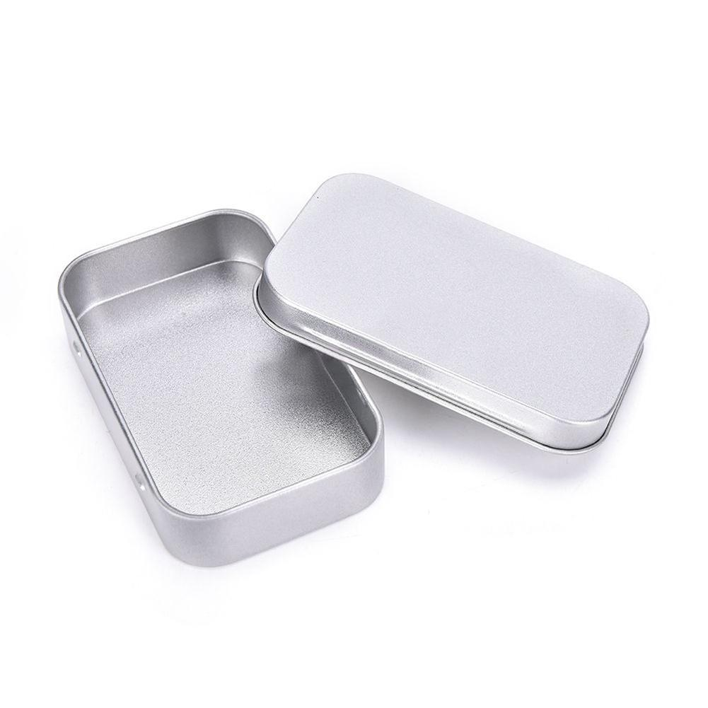 Adeeing Steel Tin Box Basic Necessities Tins Small Gift Box for Jewelry Crafts Lip Balm Storage