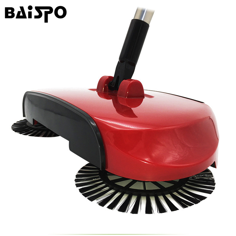 Stainless Steel Hand Push Sweepers Sweeping Machine Push Type Hand Push Magic Broom Sweepers Dustpan Household Cleaning Tools