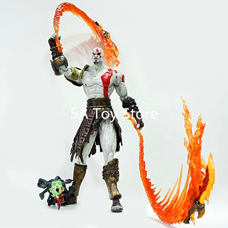 NECA God Of War Kratos PVC Action Figure Collectible Model Toy 12 30cm Retial Box 12 neca toys god of war action figures 2 infamous kratos figure pvc action figure model toy gw005