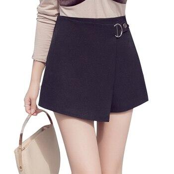 2019 novos shorts de cintura alta preto branco elegante trabalho de escritório senhora calças curtas plus size irregular bandage saias zíper calções