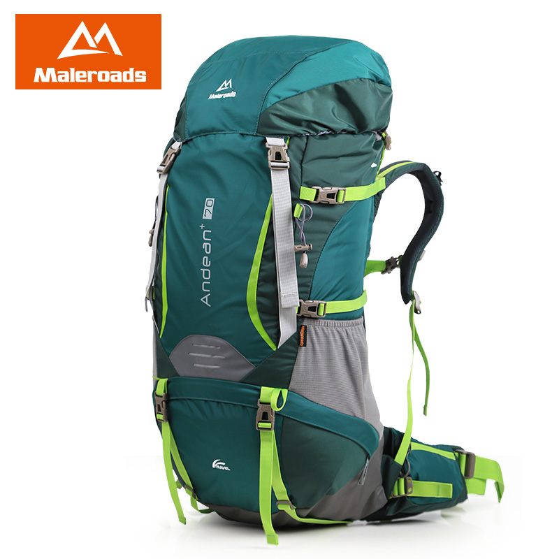 Camping Hiking Backpacking: Large 70L! Maleroads Professional Camping Equipment