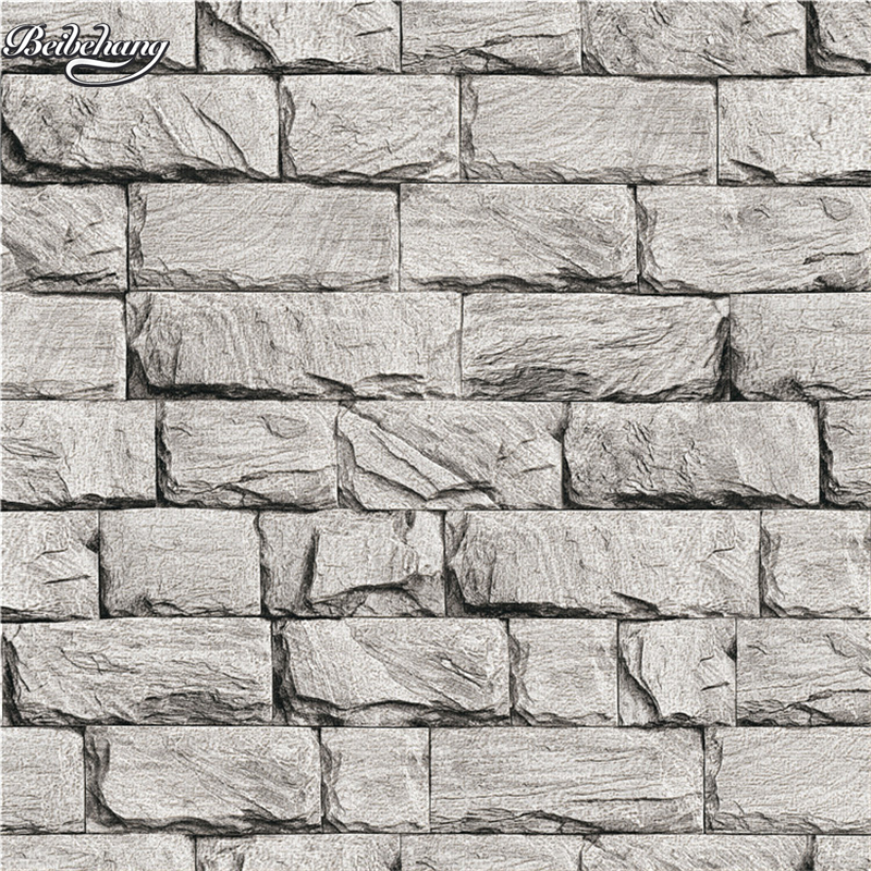 beibehang New Chinese 3D stereo simulation marble wallpaper clothing store restaurant stone pattern PVC works wallpaper
