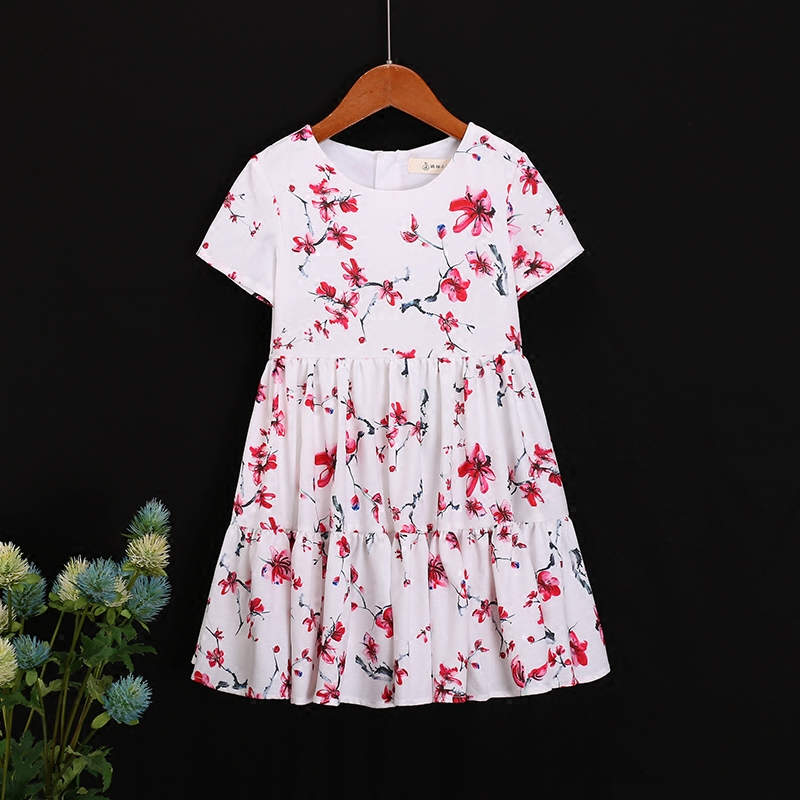 Family look outfit cotton flower girl fashion beach dress kids clothes matching mother daughter clothing mom baby Summer dresses 2017 summer children clothing mother and daughter clothes xl xxl lady women infant kids mom girls family matching casual pajamas