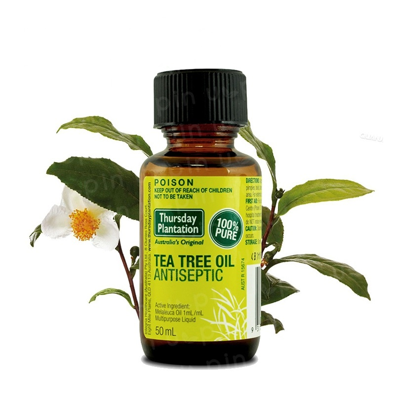 Australia high quality 100%Pure Tea Tree Oil 50ml Acne treatment Remove shrink pore face care tea tree oil powerful acne remover creativity essential oil blend true botanical 100% pure and natural undiluted high quality therapeutic grade blend of rosemary clary sage hyssop marjoram cinnamon 5 ml