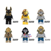 Single Mummy Golden Face Pharoah's Egyptian building blocks model bricks toy for children kits brinquedos menino(China)