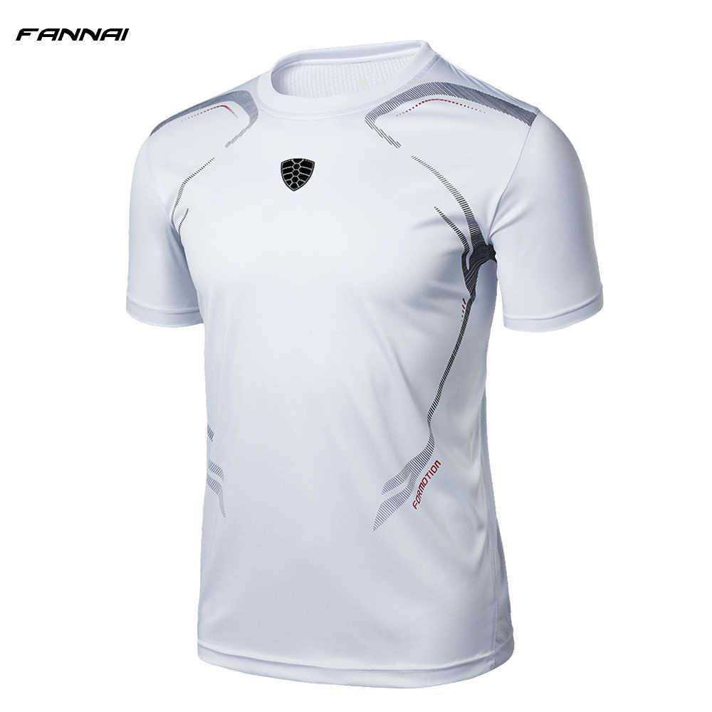 Camiseta uniforme de verão masculina, gola redonda, manga curta, futebol, corrida, corrida, ajuste, secagem rápida, novo, 2019 camisa masculina