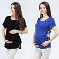 La moda de nueva Ropa de Maternidad de Maternidad Tops Tops de Lactancia ropa De Enfermería superior De Enfermería para las mujeres embarazadas