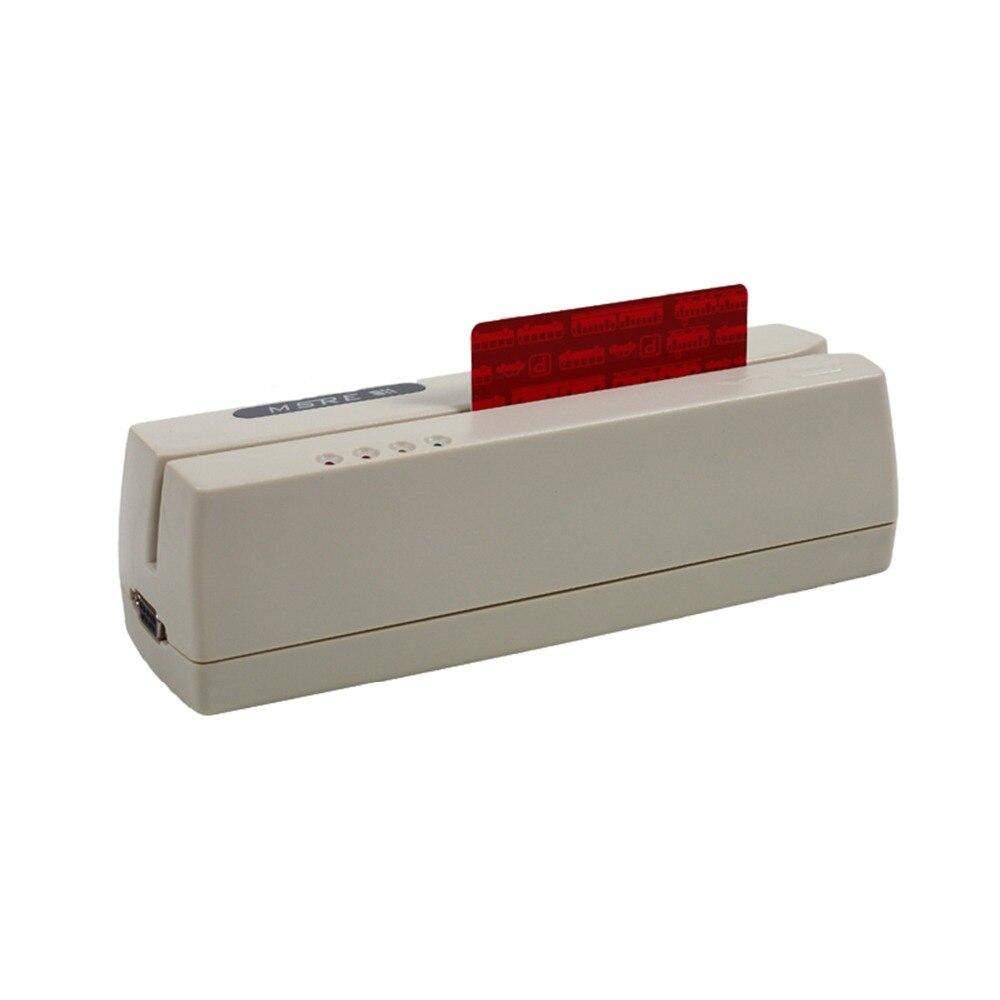 Lecteur de carte magnétique et écriture EMV lecteur/graveur de carte à puce Smart IC Stripe pour le logiciel Track 1, 2 et 3 HCC-206 gratuitement