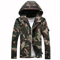 2017 new spring and autumn style men's high quality jacket camouflage hoodie overcoat pizex coat size S 2XL