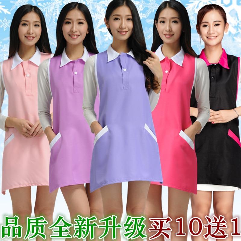 Beauty Salon Beautician Work Clothes Apron Nail Waitress Sleeveless Skirt Female Supermarket Apron Nurse Uniform