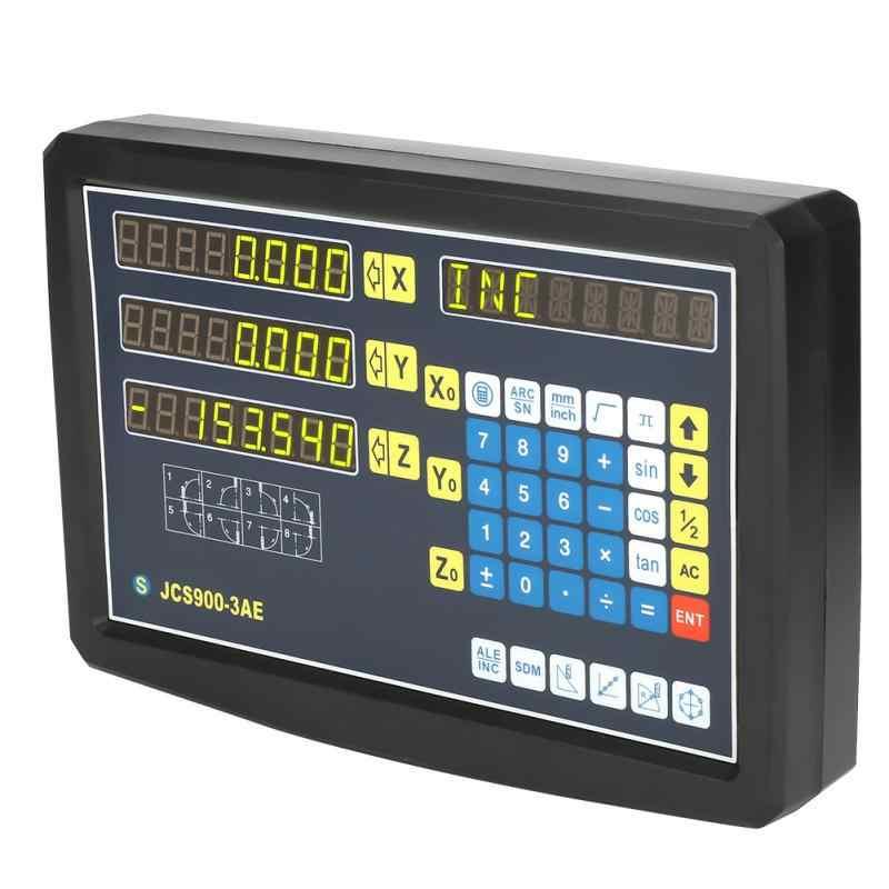 1 pc 3 Eixo Dro leitura Digital com Acessórios para Moagem Torno Máquina EU Plug 110-240 v
