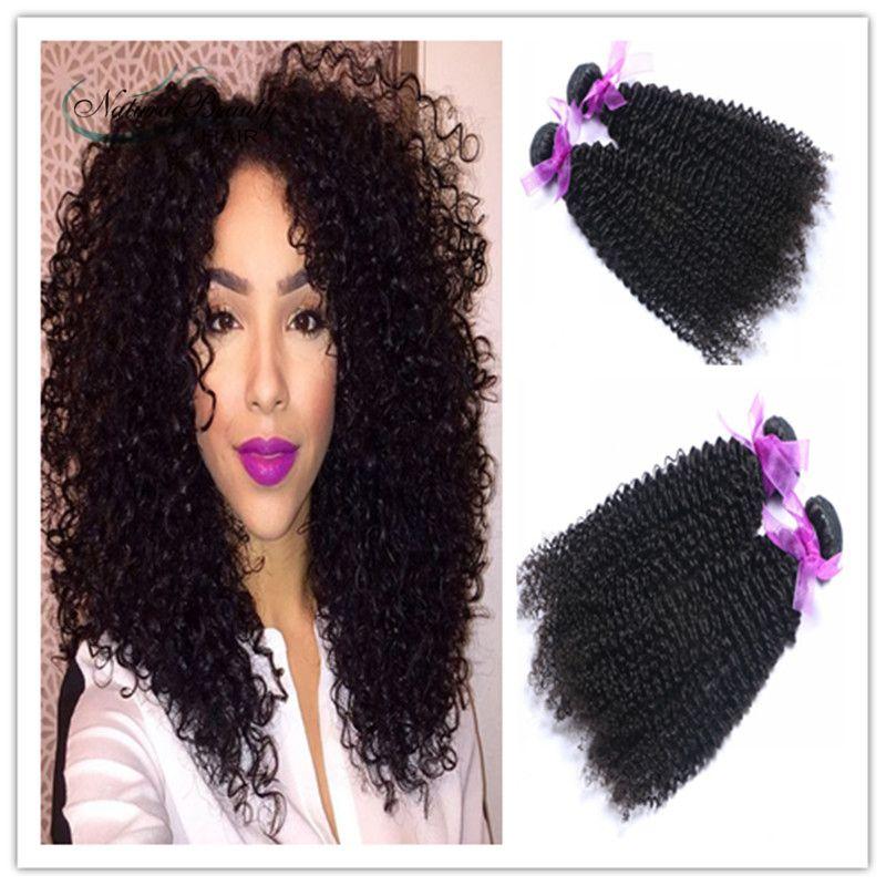 2016 Hot Mongolian Afro Kinky Curly Hair 2pcs Human Hair Weave