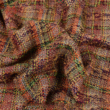 Luxury multi color plaid weaving tweed woolen fabric for winter autumn coat cotton wool tissu cloth tecidos telas stoffen SP5691(China)