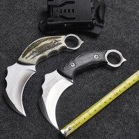 Hohe Qualität Messer Reparierte Klinge 440C Stahl Messer Karambit Jagd Überleben Werkzeuge Outdoor Tops Messer EDC messer mit K Mantel